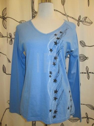 fb958270d6d Ručně malované dámské tričko ADA021