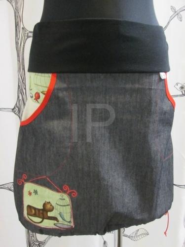 0c622fff03a5 Dámská džínová sukně kočky do gumy